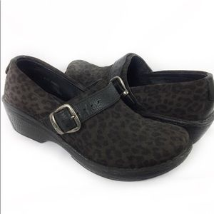 Born suede leopard loafers